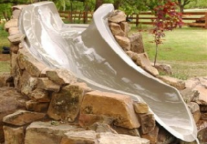 Left Turn Water Slide