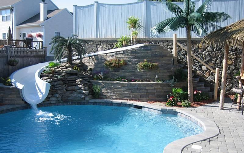 Custom Pool Slides & Fiberglass Residential Water Slides ...