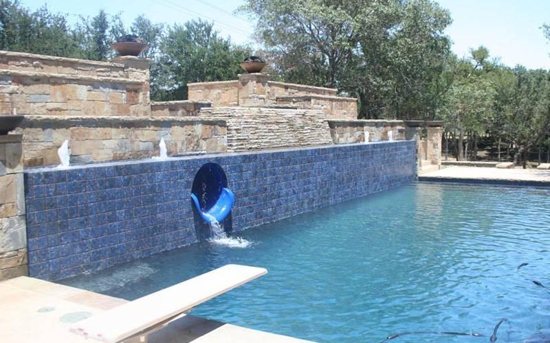 Custom Portable Pool Slides Fiberglass Residential Water Slide Dolphin Waterslides Inc