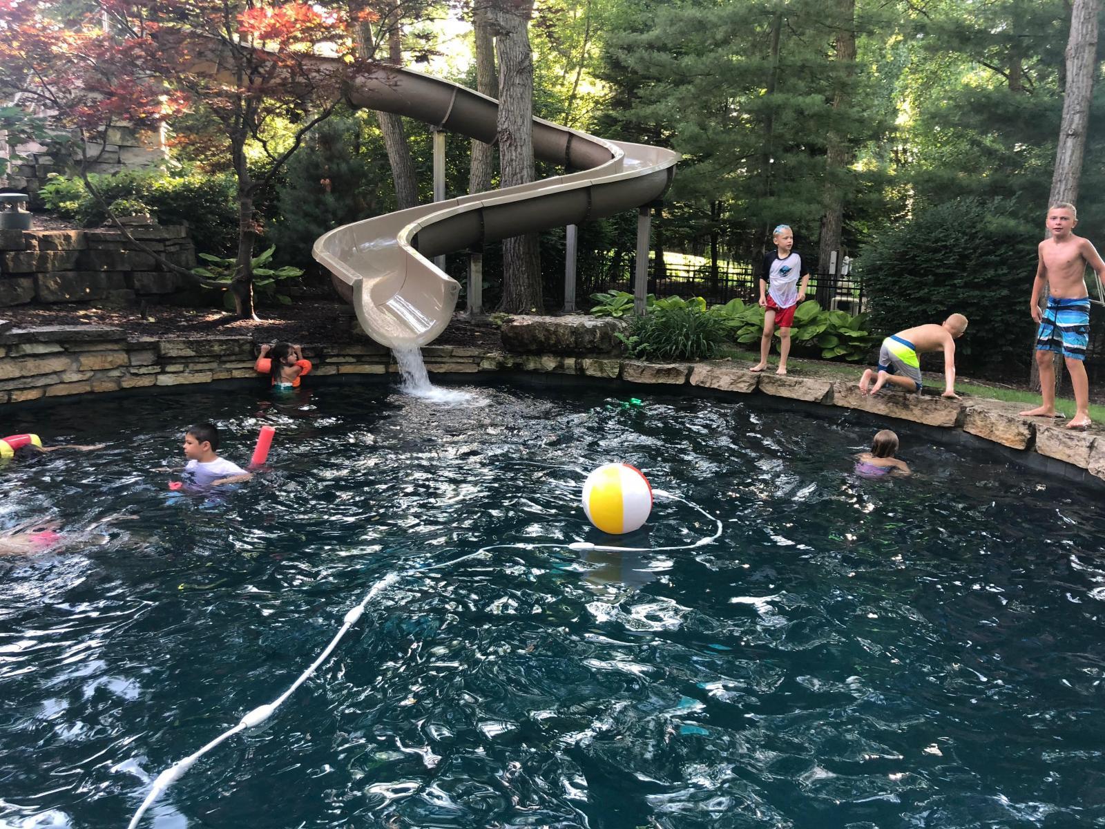 Custom Pool Slides; Fiberglass Residential Water Slide | Dolphin ...