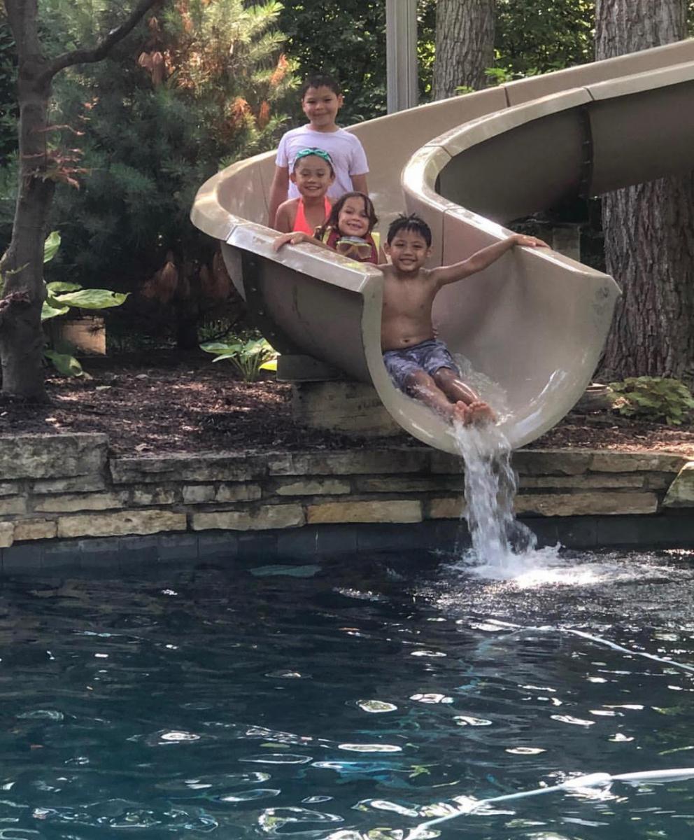 Custom Pool Slides & Fiberglass Residential Water Slides   Dolphin