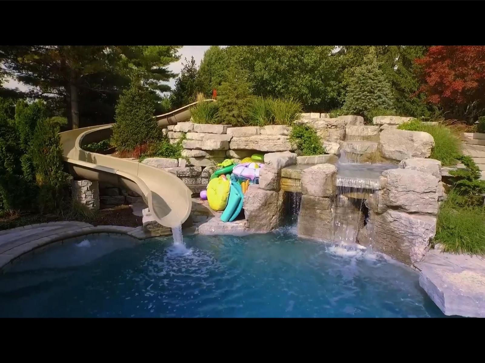 Custom pool slides fiberglass residential water slide - Used swimming pool slides for sale ...