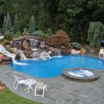 Home pool and waterslide